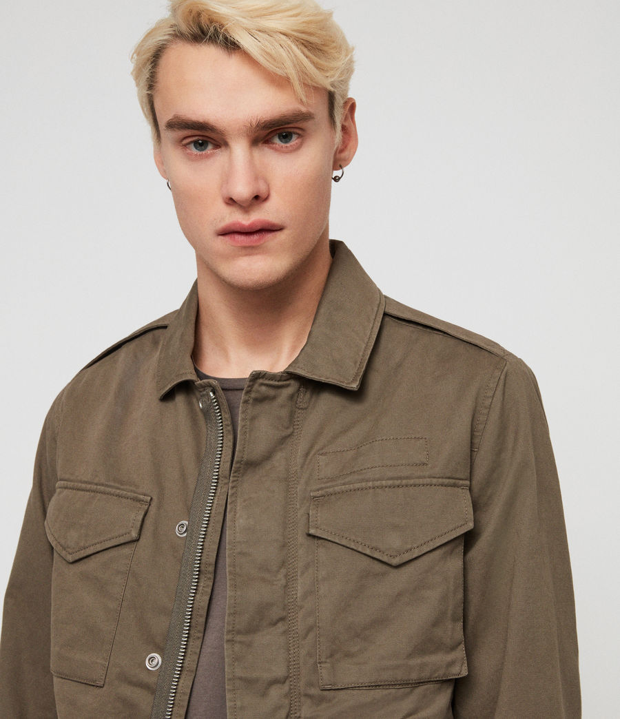 Mens Cote Jacket (dusty_olive) - Image 2