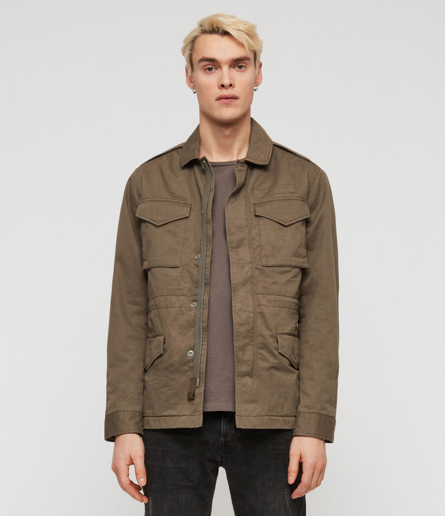 Mens Cote Jacket (dusty_olive) - Image 3