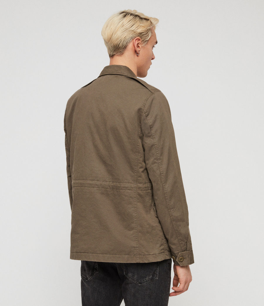 Mens Cote Jacket (dusty_olive) - Image 4