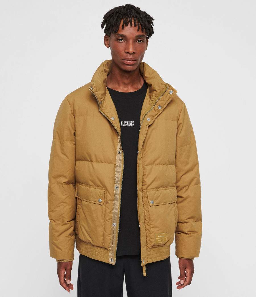 Men's Hadley Puffer Coat (mustard_yellow) - Image 1