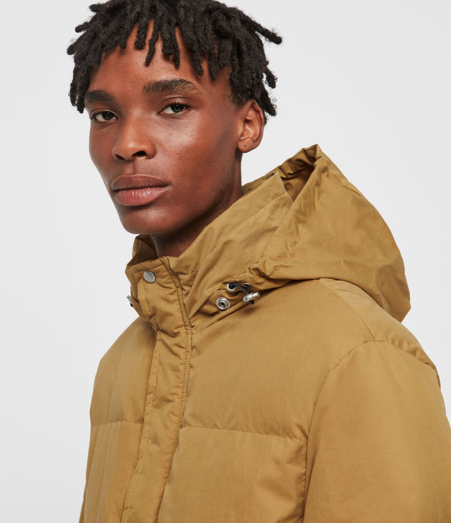 Men's Hadley Puffer Coat (mustard_yellow) - Image 2