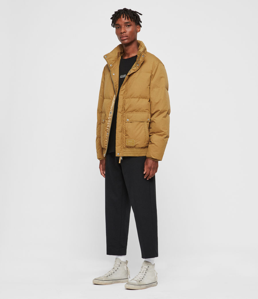 Men's Hadley Puffer Coat (mustard_yellow) - Image 3