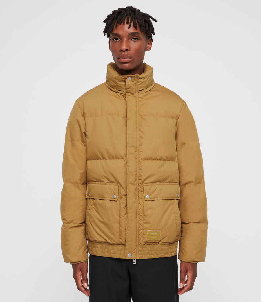 Men's Hadley Puffer Coat (mustard_yellow) - Image 4