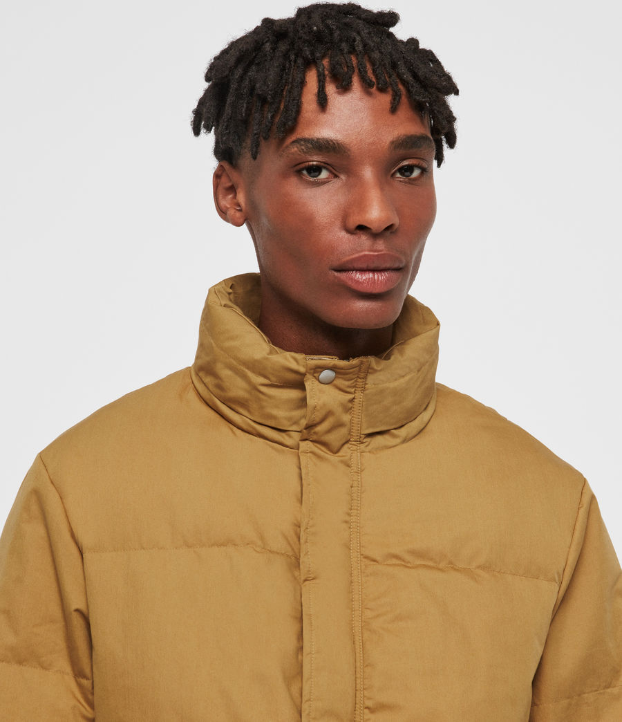 Men's Hadley Puffer Coat (mustard_yellow) - Image 5