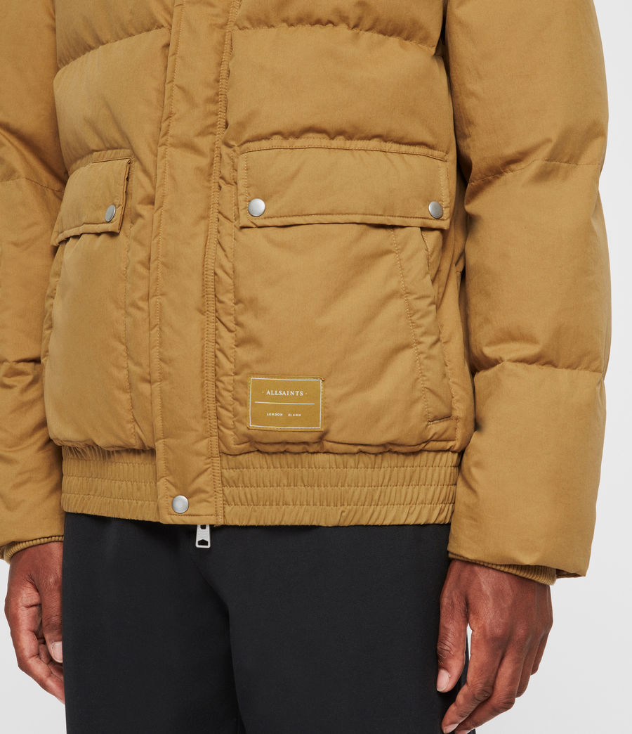 Men's Hadley Puffer Coat (mustard_yellow) - Image 6