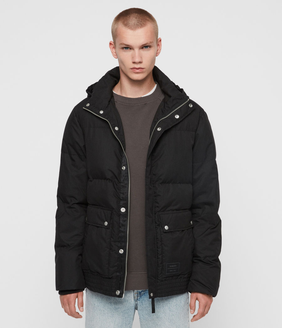 Mens Hadley Puffer Coat (black) - Image 1