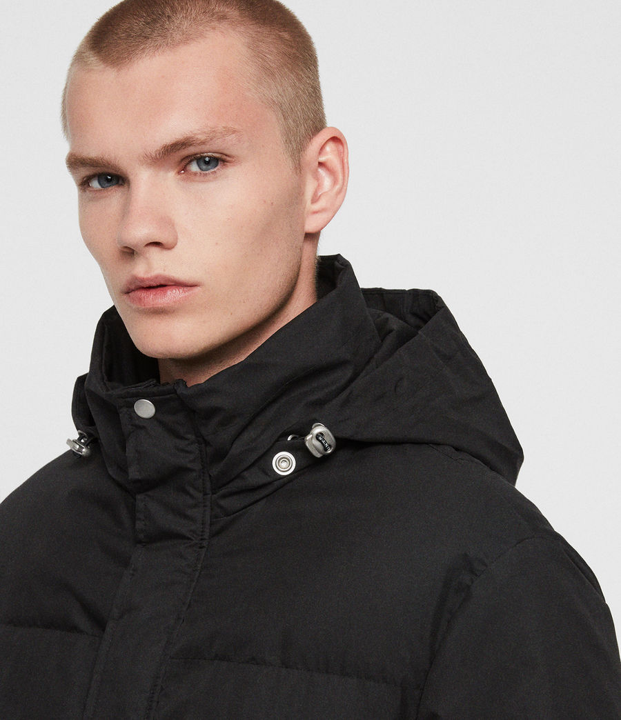 Mens Hadley Puffer Coat (black) - Image 2