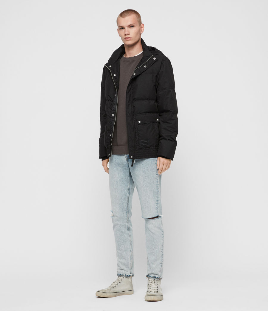 Mens Hadley Puffer Coat (black) - Image 3