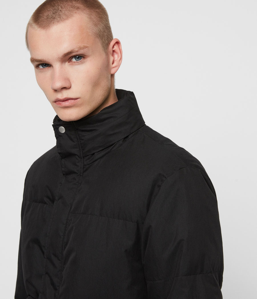 Mens Hadley Puffer Coat (black) - Image 6