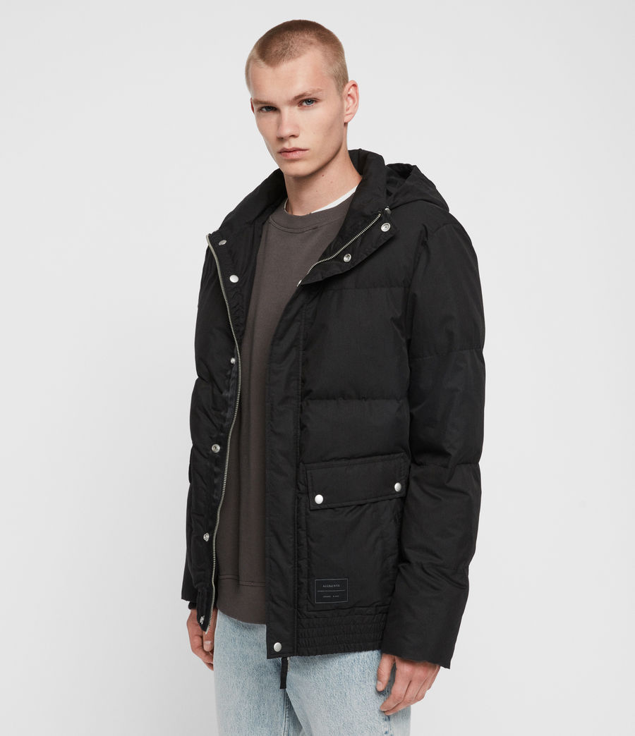 Mens Hadley Puffer Coat (black) - Image 7