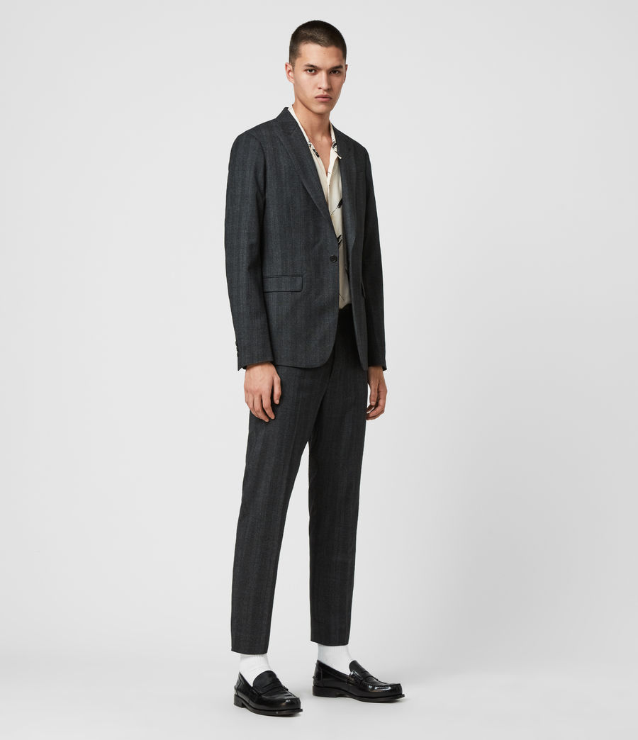Mens Foxley Check Blazer (charcoal_grey) - Image 3