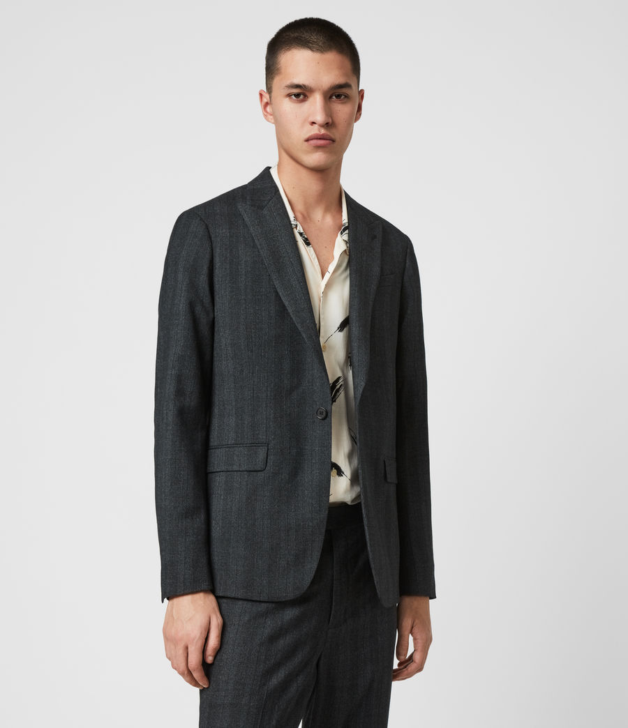 Mens Foxley Check Blazer (charcoal_grey) - Image 4