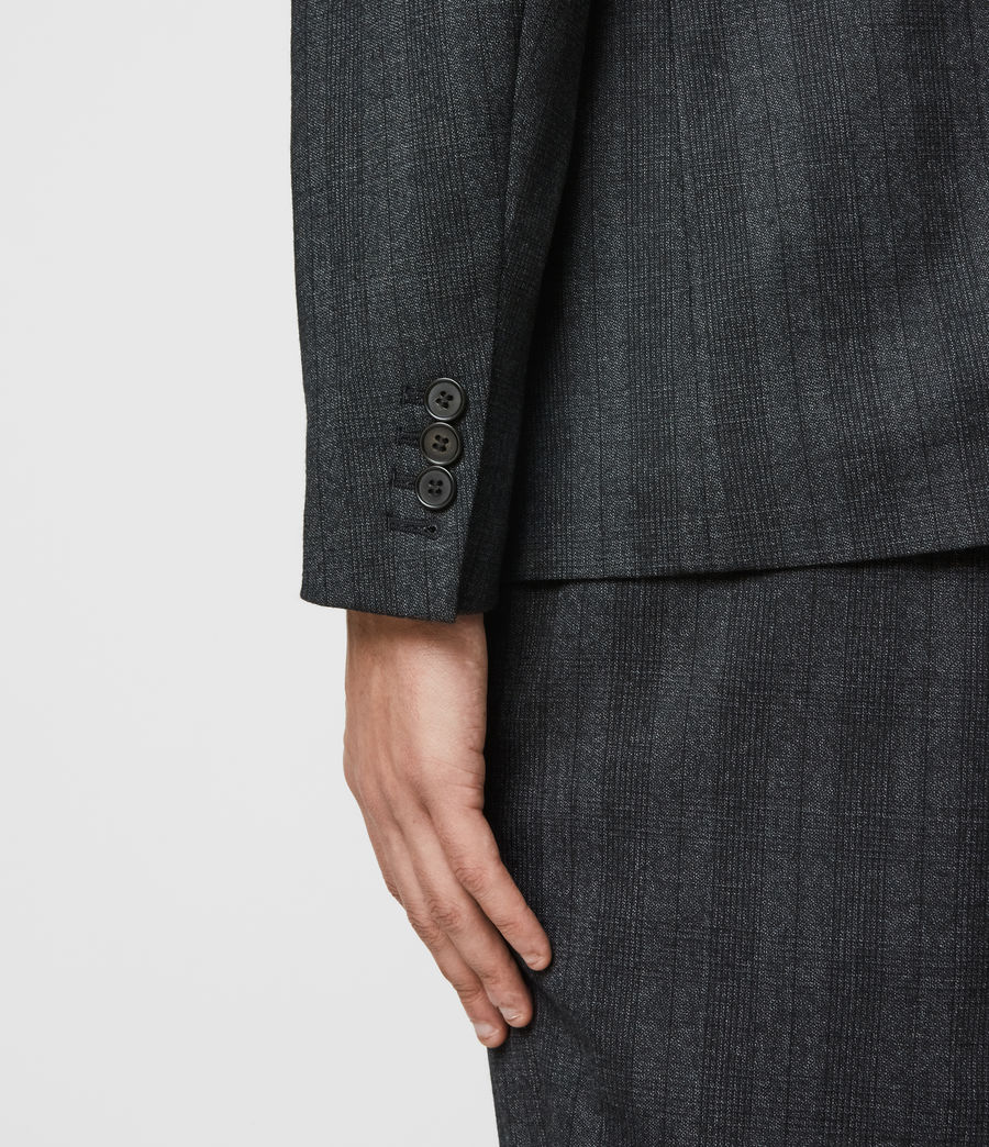 Mens Foxley Check Blazer (charcoal_grey) - Image 6