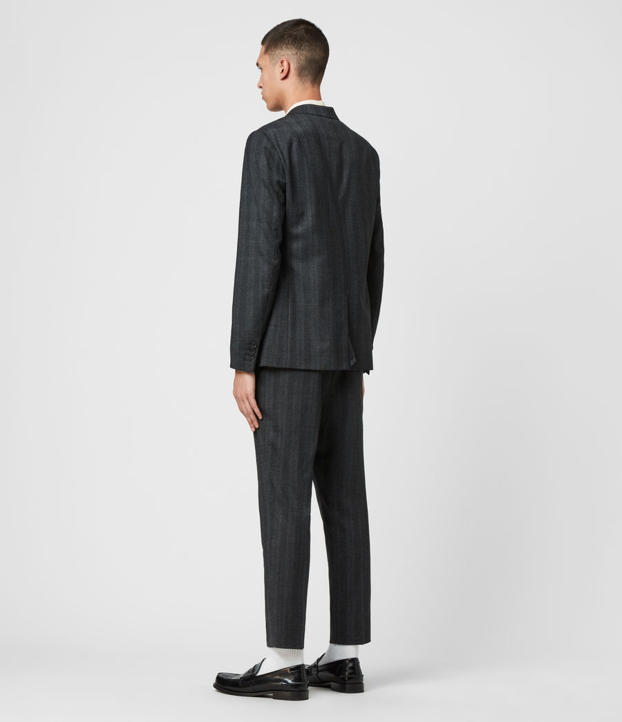 Mens Foxley Check Blazer (charcoal_grey) - Image 7