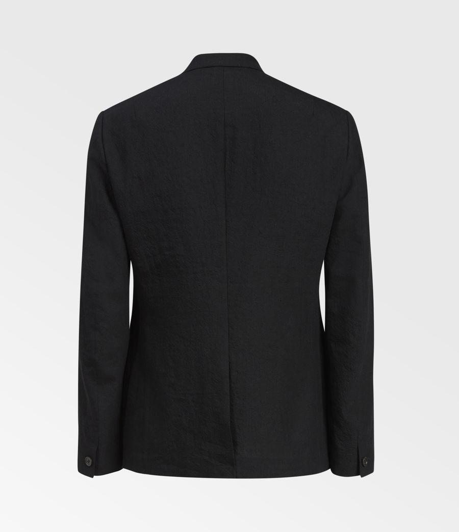 Men's Auroville Linen Blend Blazer (black) - Image 2