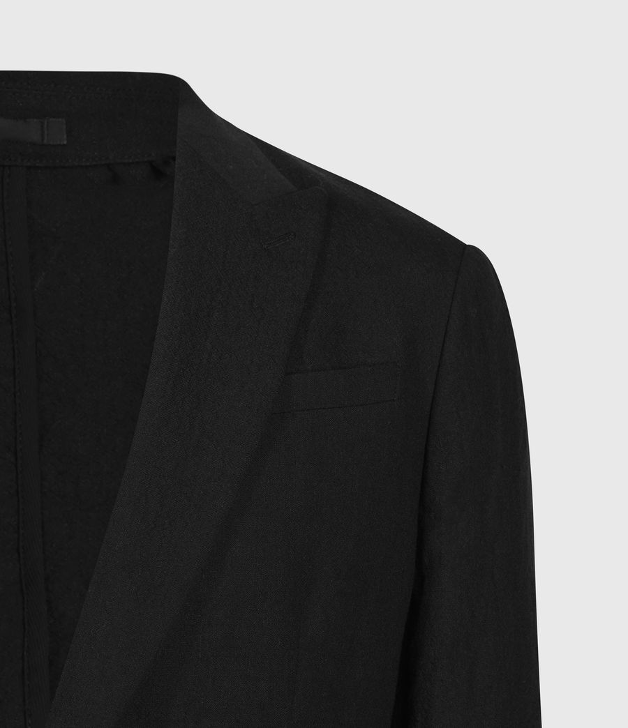 Men's Auroville Linen Blend Blazer (black) - Image 3