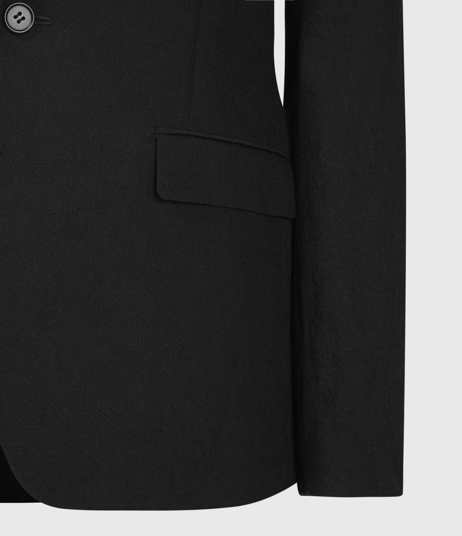 Men's Auroville Linen Blend Blazer (black) - Image 4