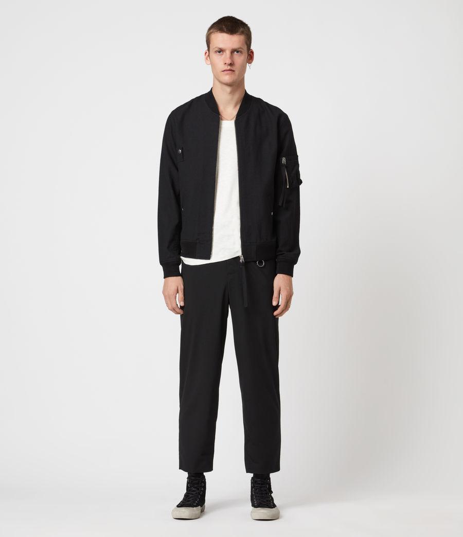 Men's Neo Bomber Jacket (black) - Image 4