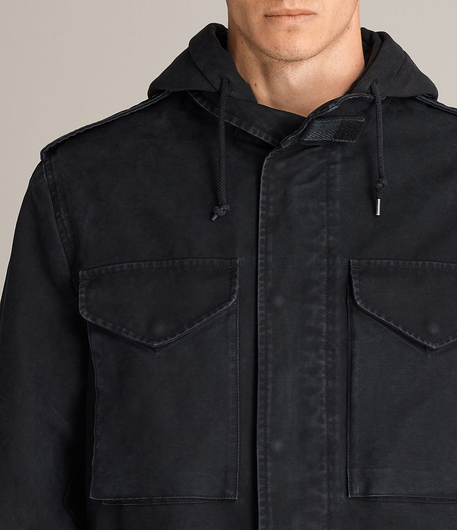 Hombres Chaqueta Corp (black) - Image 2