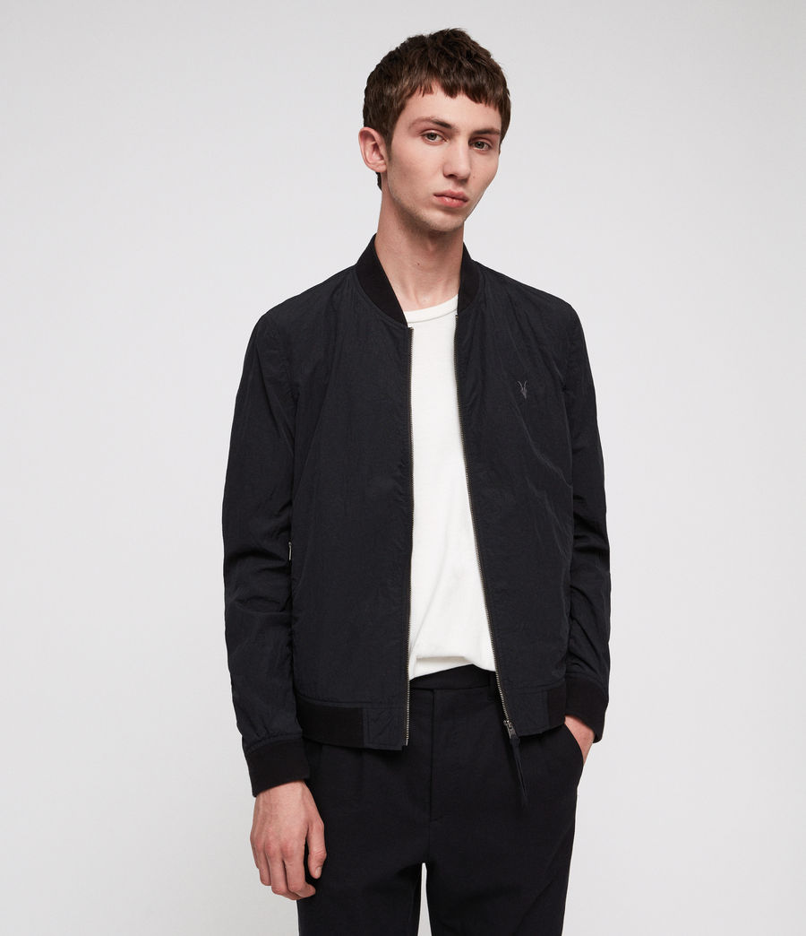 Men's Fleet Bomber Jacket (black) - Image 1