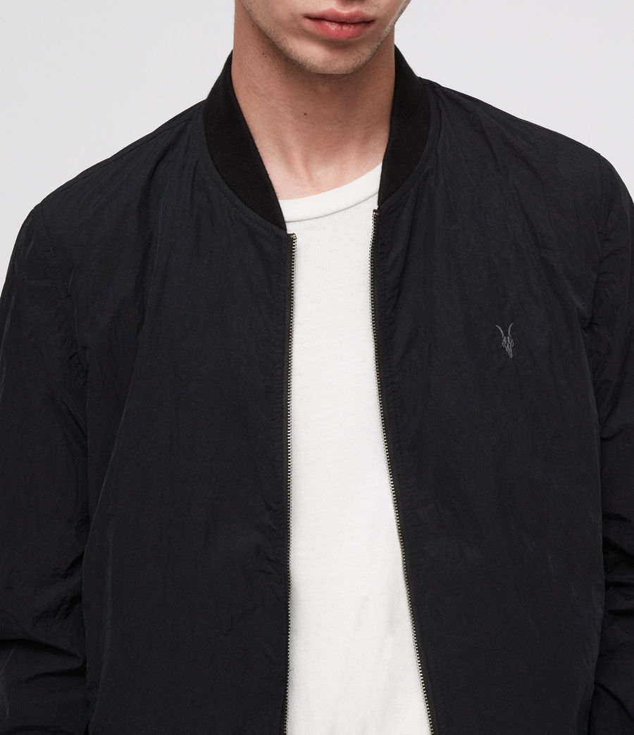 Men's Fleet Bomber Jacket (black) - Image 2