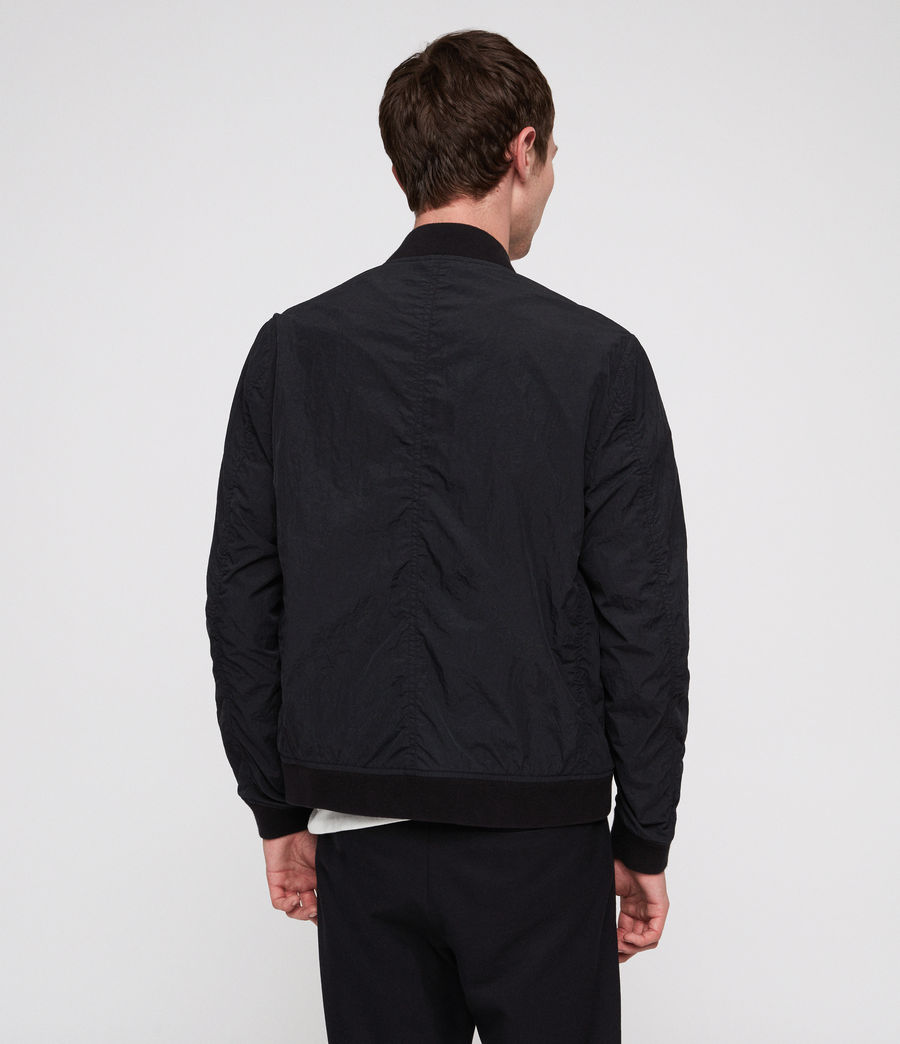 Men's Fleet Bomber Jacket (black) - Image 4
