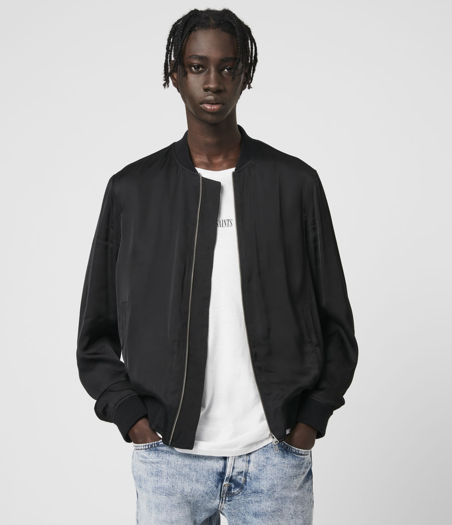 Mens Barkley Bomber Jacket (black) - Image 1