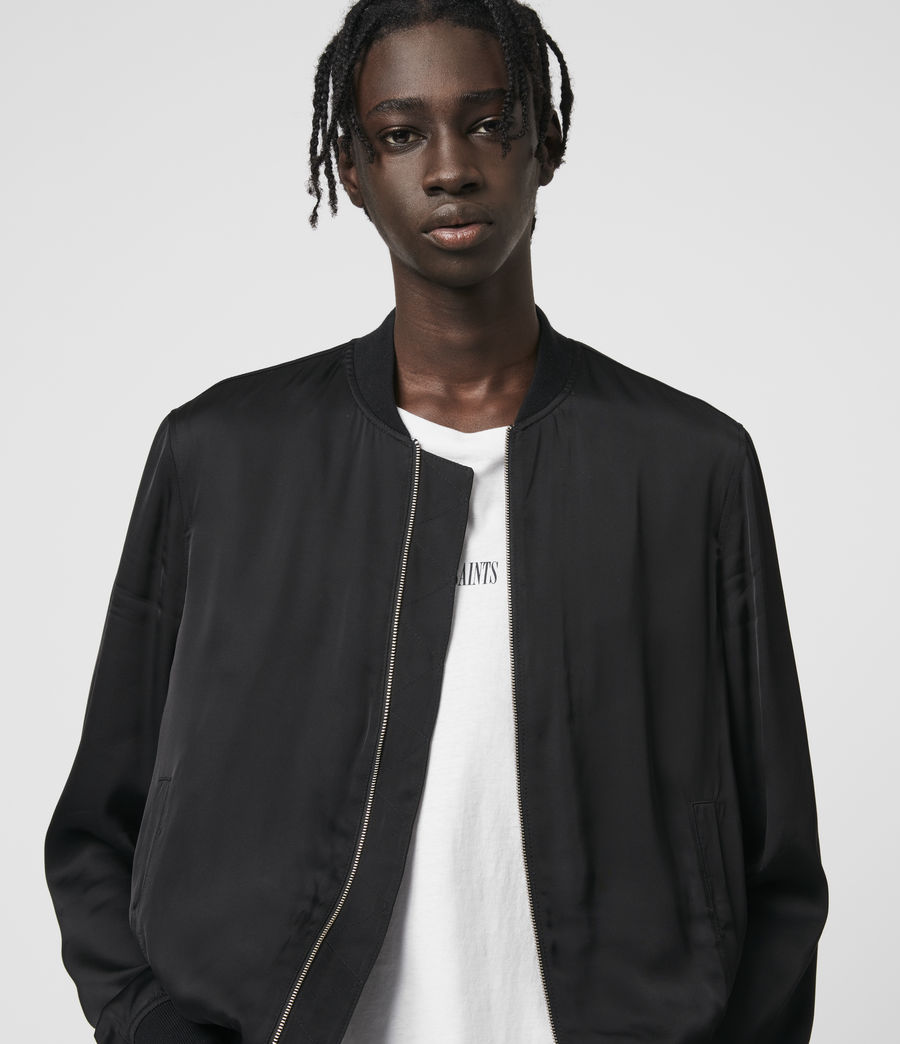 Mens Barkley Bomber Jacket (black) - Image 2