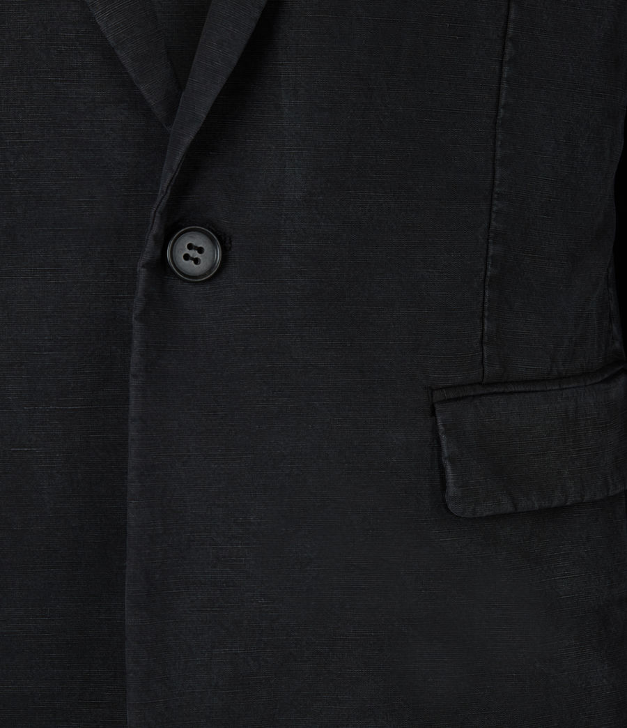 Mens Vaga Linen Blend Blazer (washed_black) - Image 6