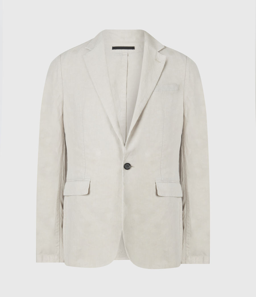 Mens Vaga Linen Blend Blazer (clay_grey) - Image 1