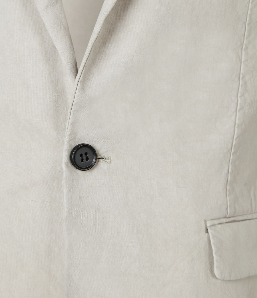 Mens Vaga Linen Blend Blazer (clay_grey) - Image 4
