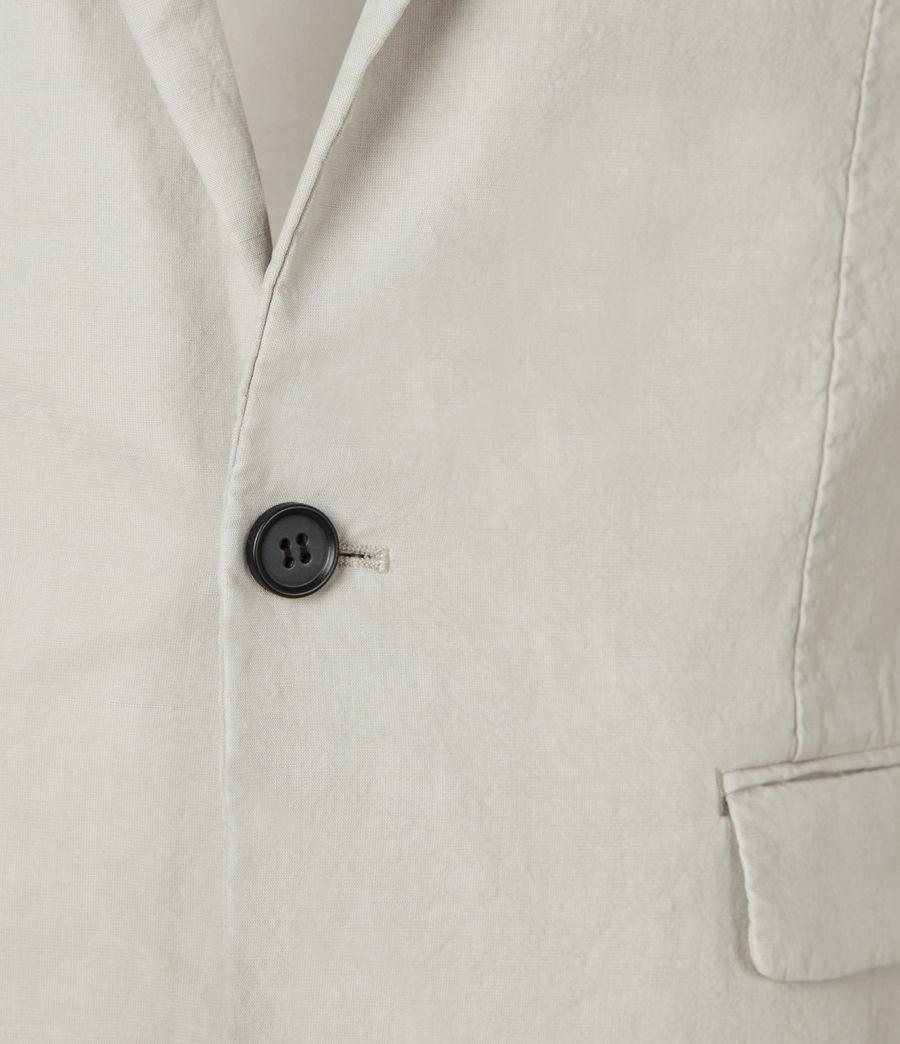 Hombres Vaga Linen Blend Blazer (clay_grey) - Image 4