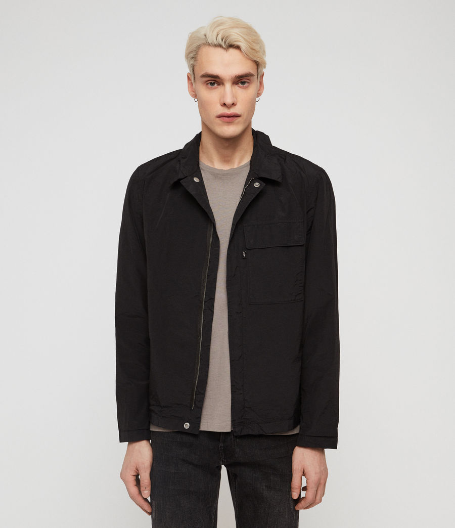 Mens Collard Jacket (black) - Image 1