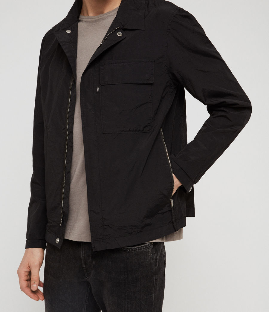Mens Collard Jacket (black) - Image 2