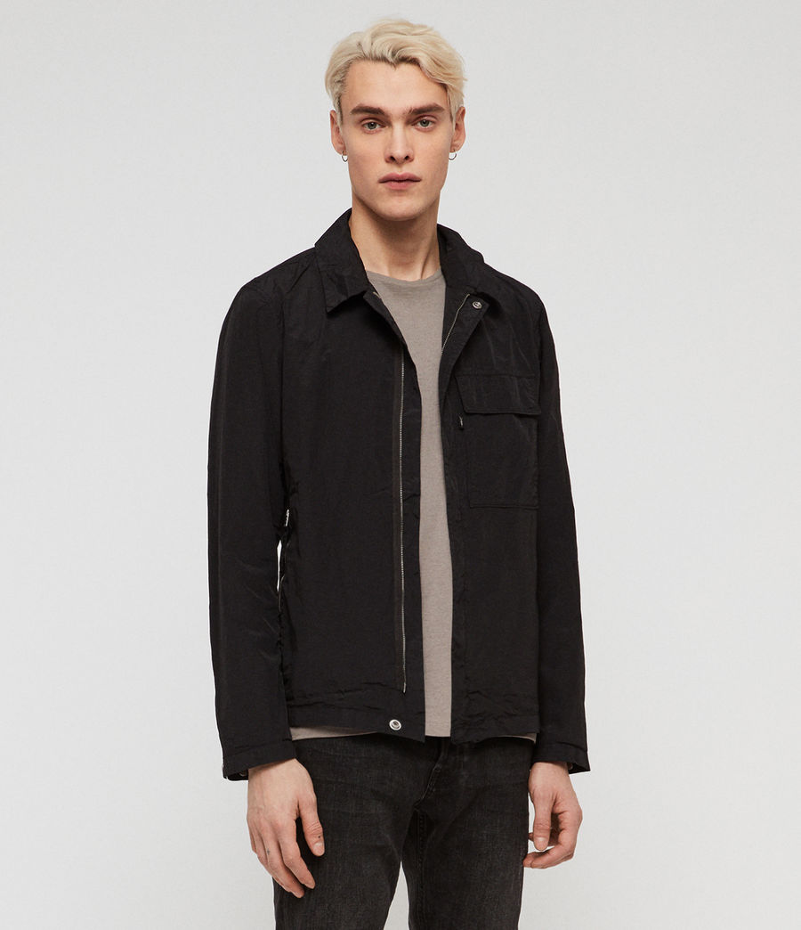 Mens Collard Jacket (black) - Image 3