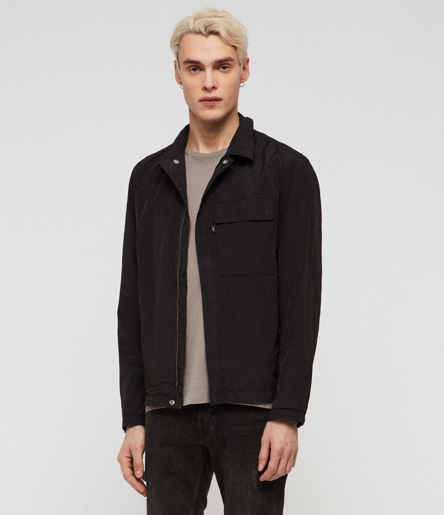 Mens Collard Jacket (black) - Image 4