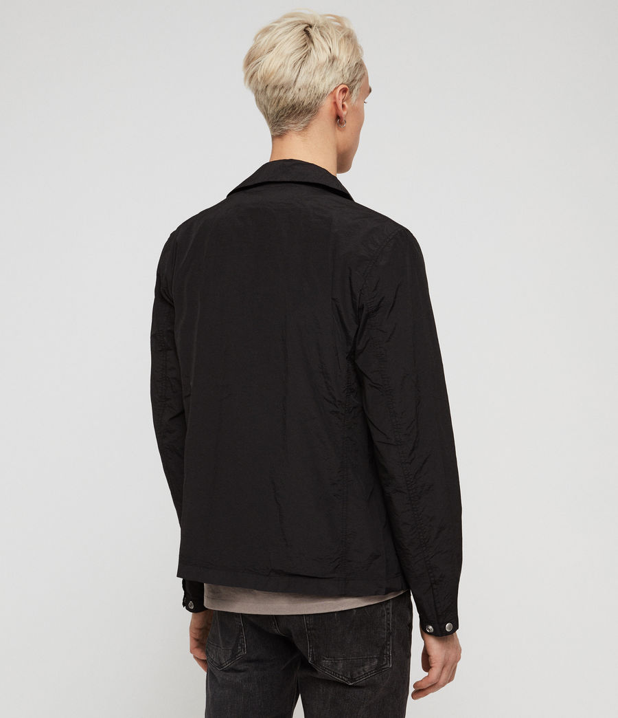 Mens Collard Jacket (black) - Image 5