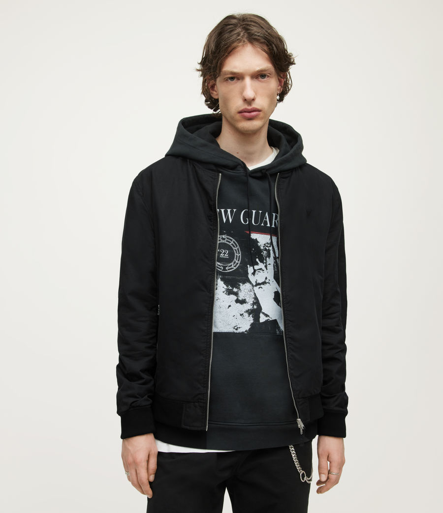 Men's Bassett Bomber Jacket (black) - Image 5