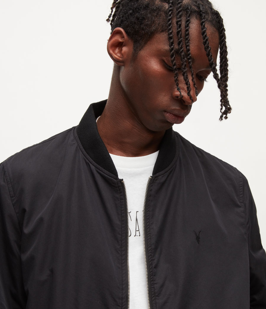 Men's Bassett Bomber Jacket (black) - Image 6