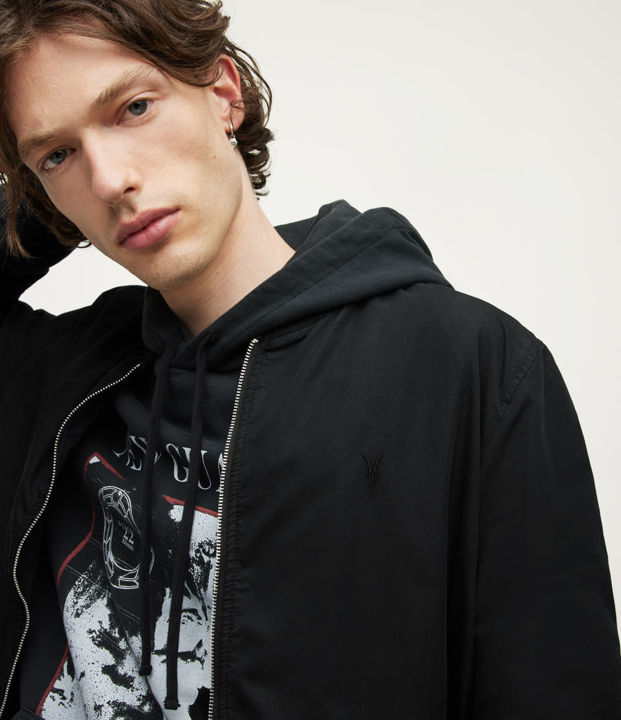 Men's Bassett Bomber Jacket (black) - Image 4