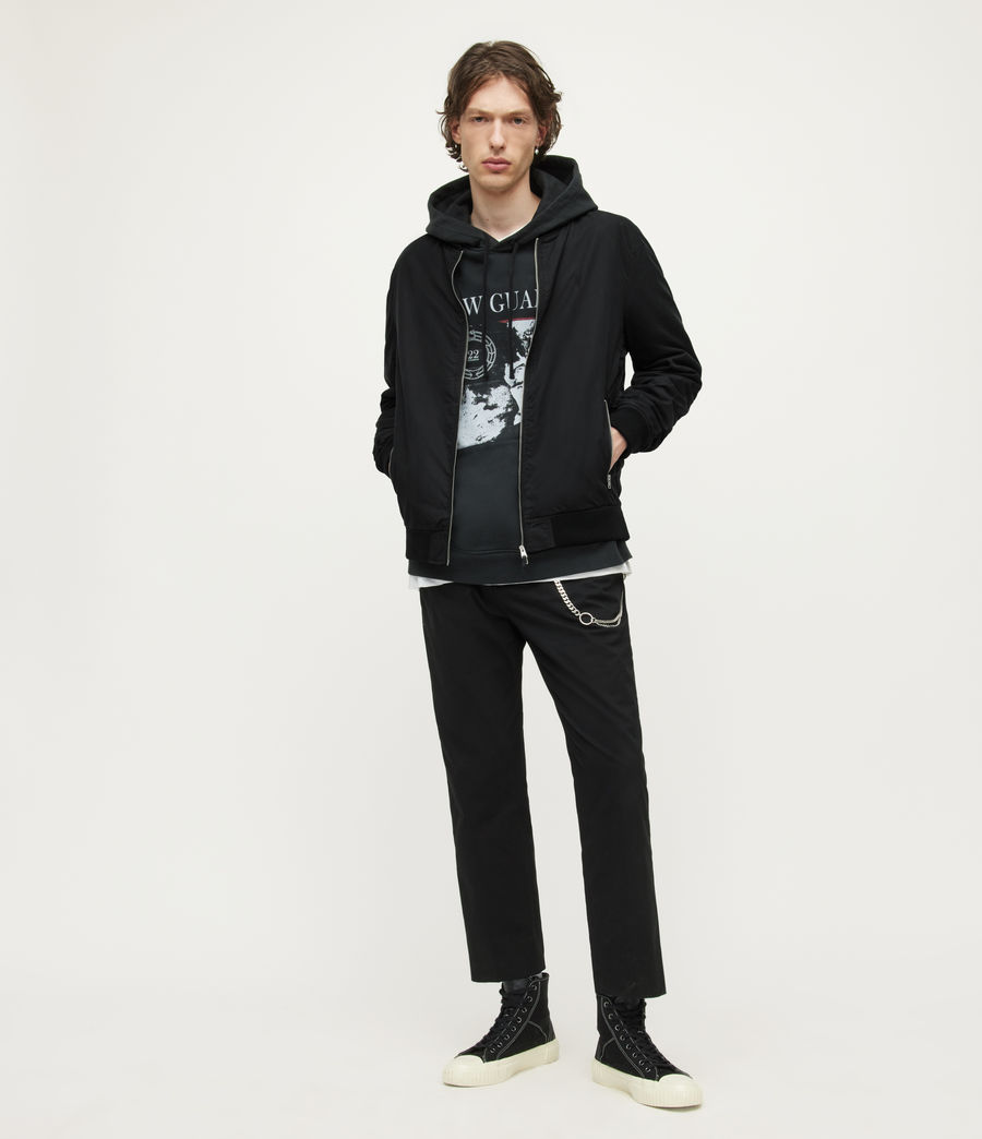 Mens Bassett Bomber Jacket (black) - Image 3