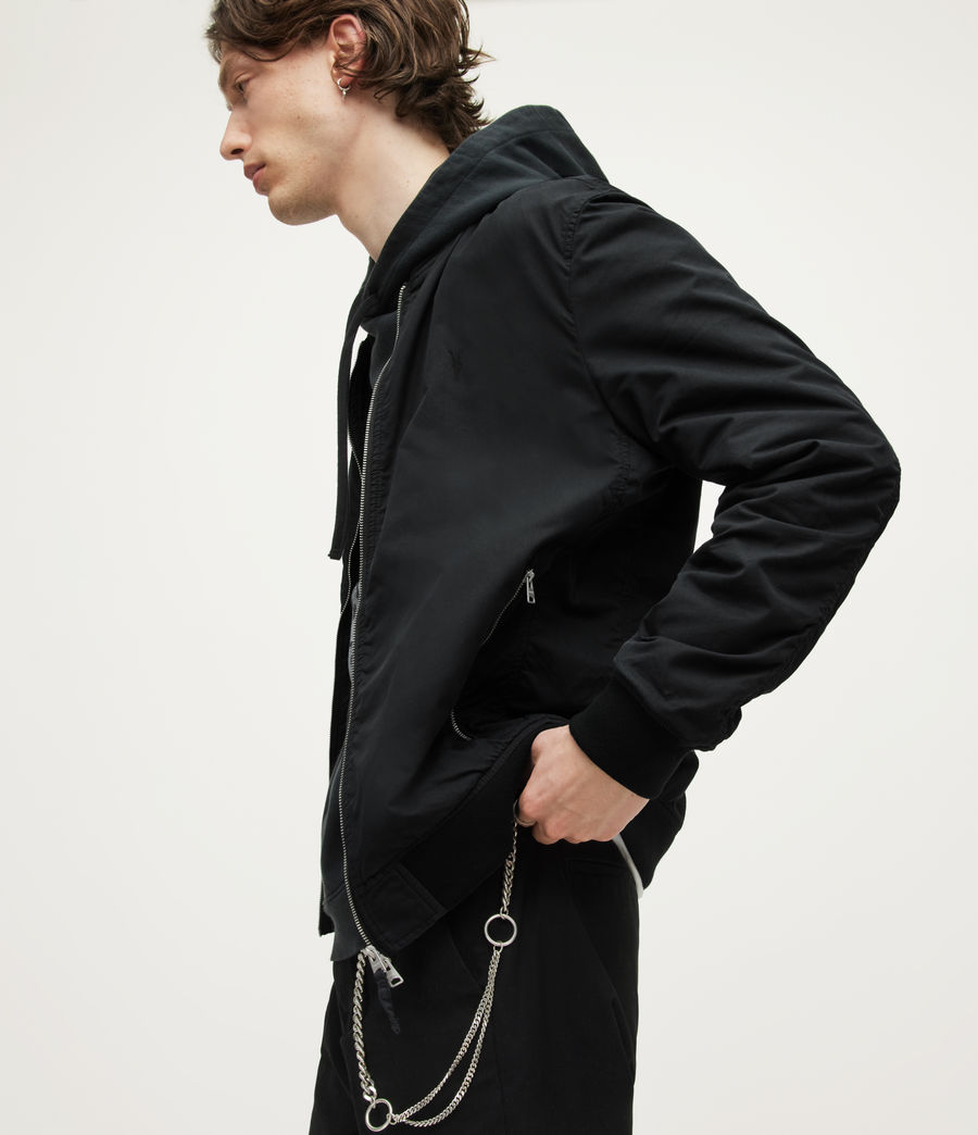 Mens Bassett Bomber Jacket (black) - Image 4