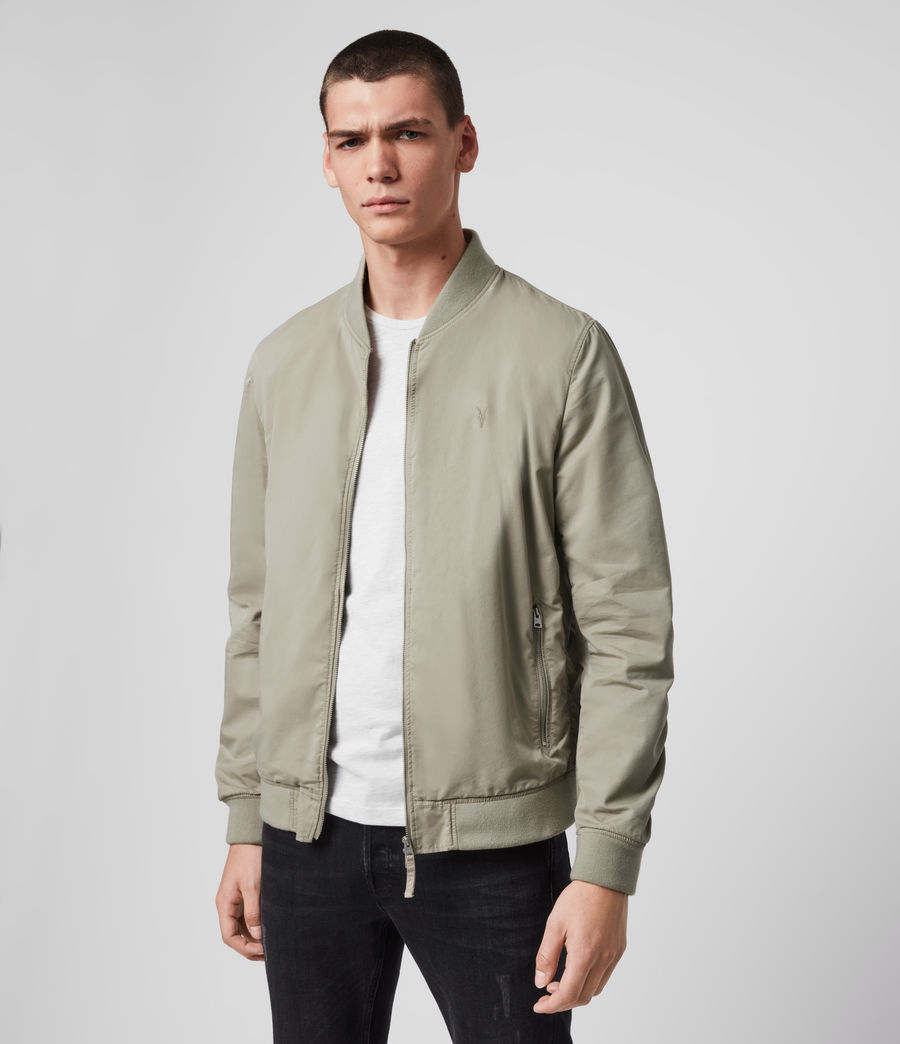 Men's Bassett Bomber Jacket (sutro_grey) - Image 4