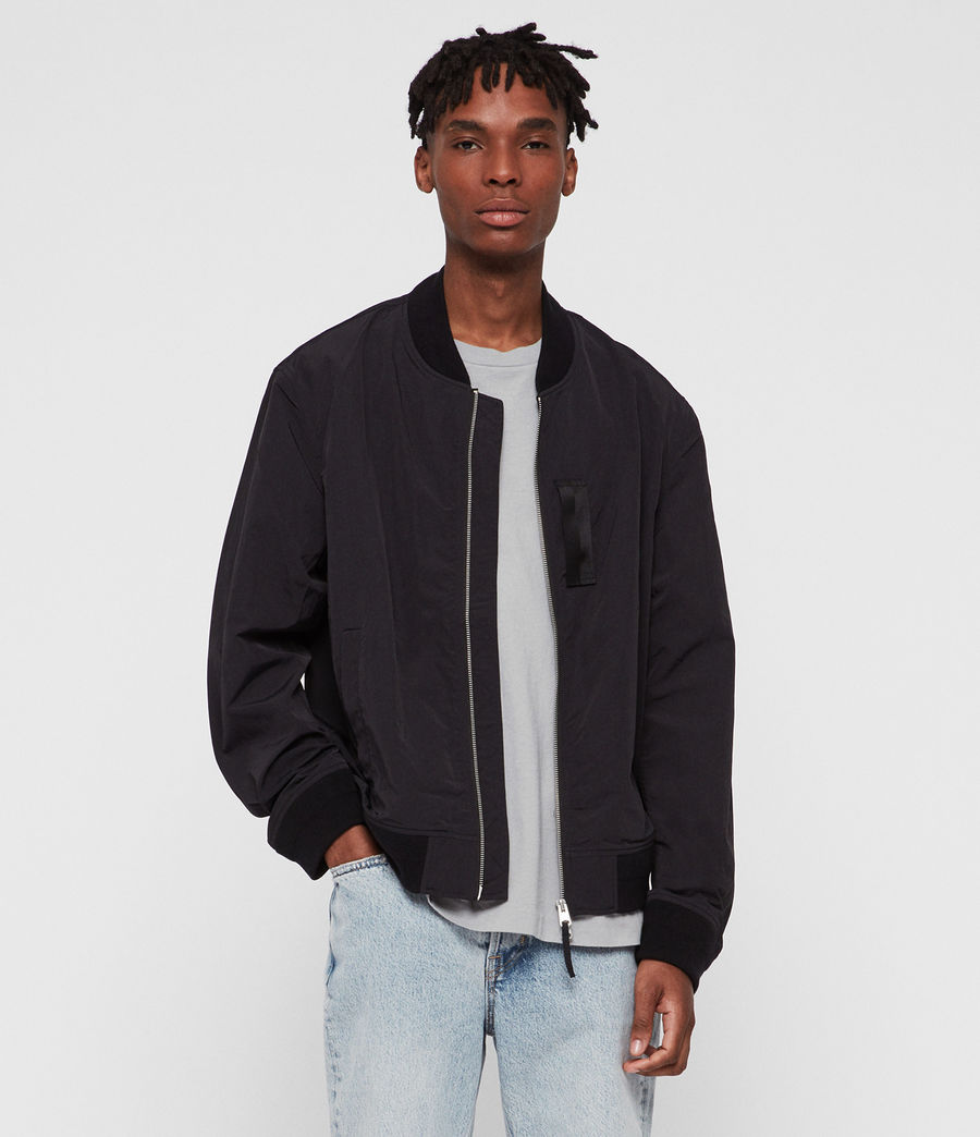 Hombre Chamarra Bomber Finch (black) - Image 1