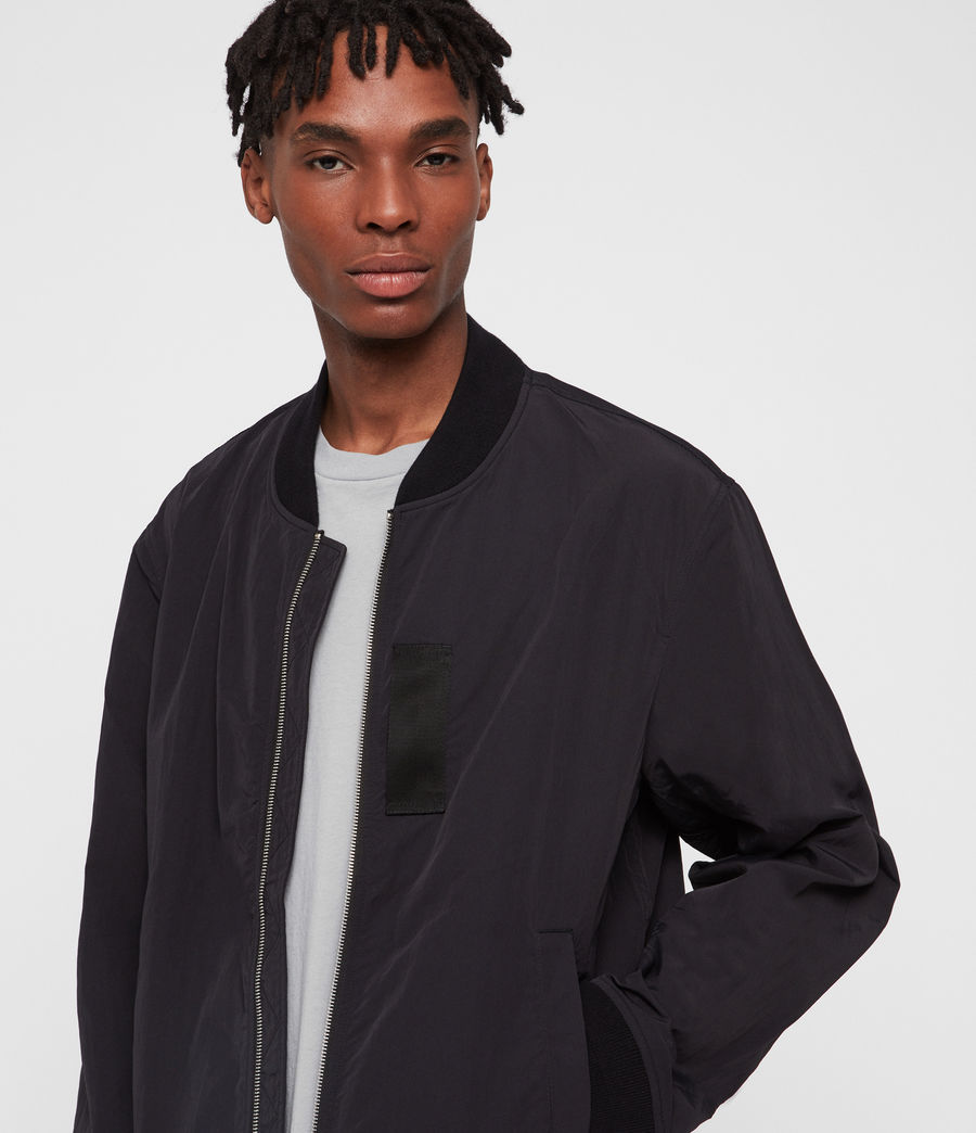 Hombre Chamarra Bomber Finch (black) - Image 2