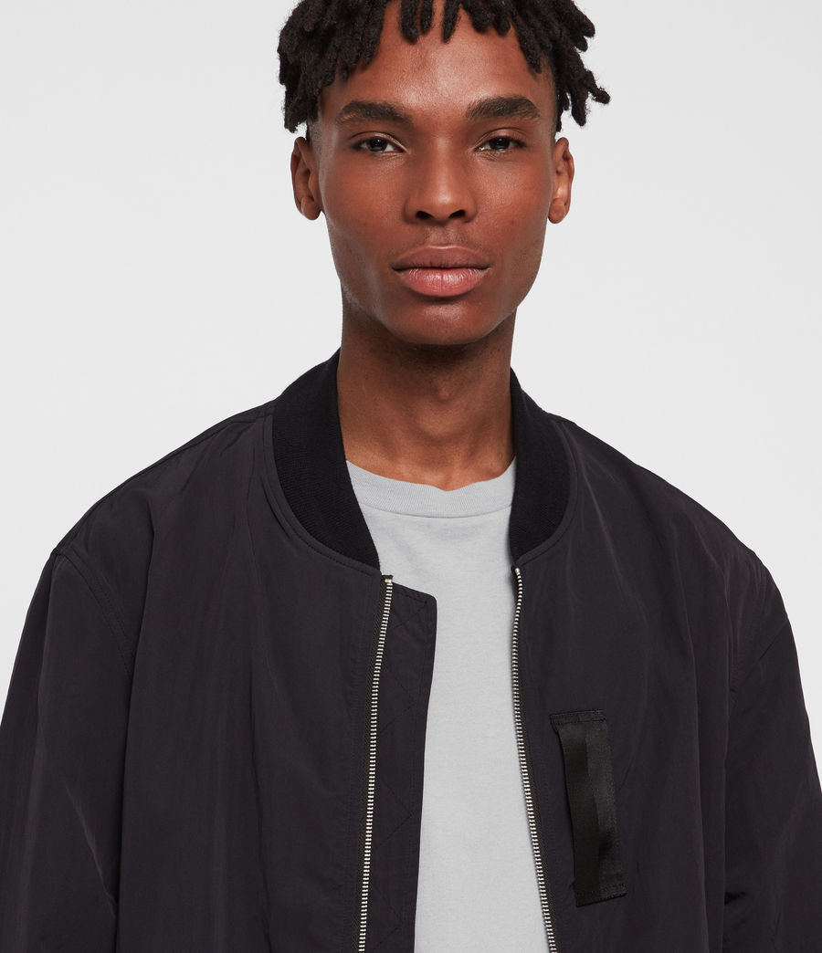 Hombre Chamarra Bomber Finch (black) - Image 3