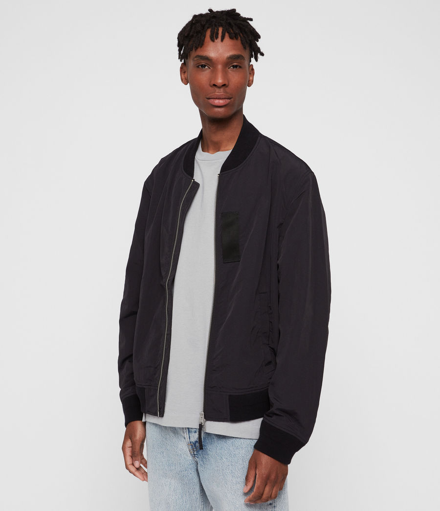 Hombre Chamarra Bomber Finch (black) - Image 4