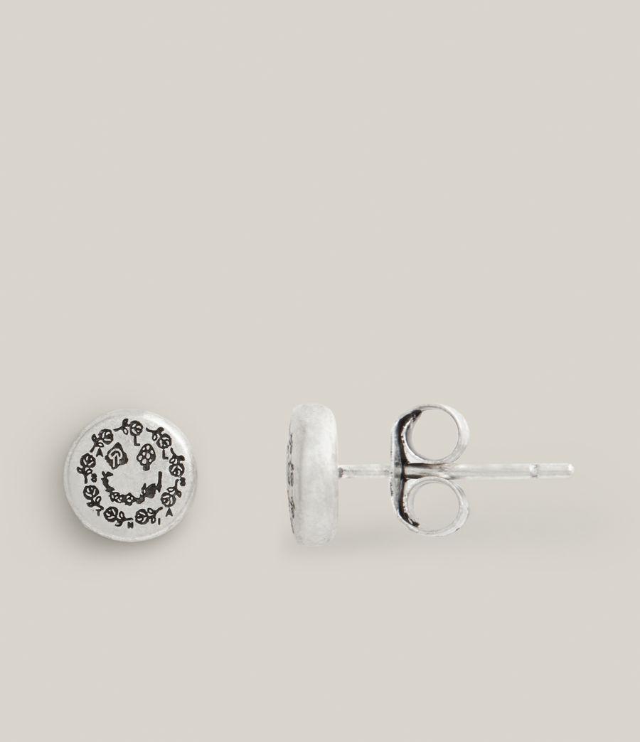 Men's Otis Sterling Silver Earrings (warm_silver) - Image 3