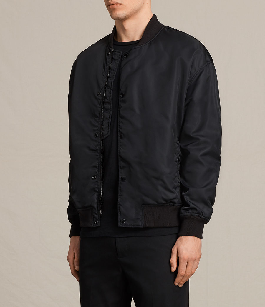 Herren Kitson Bomber Jacket (black) - Image 3