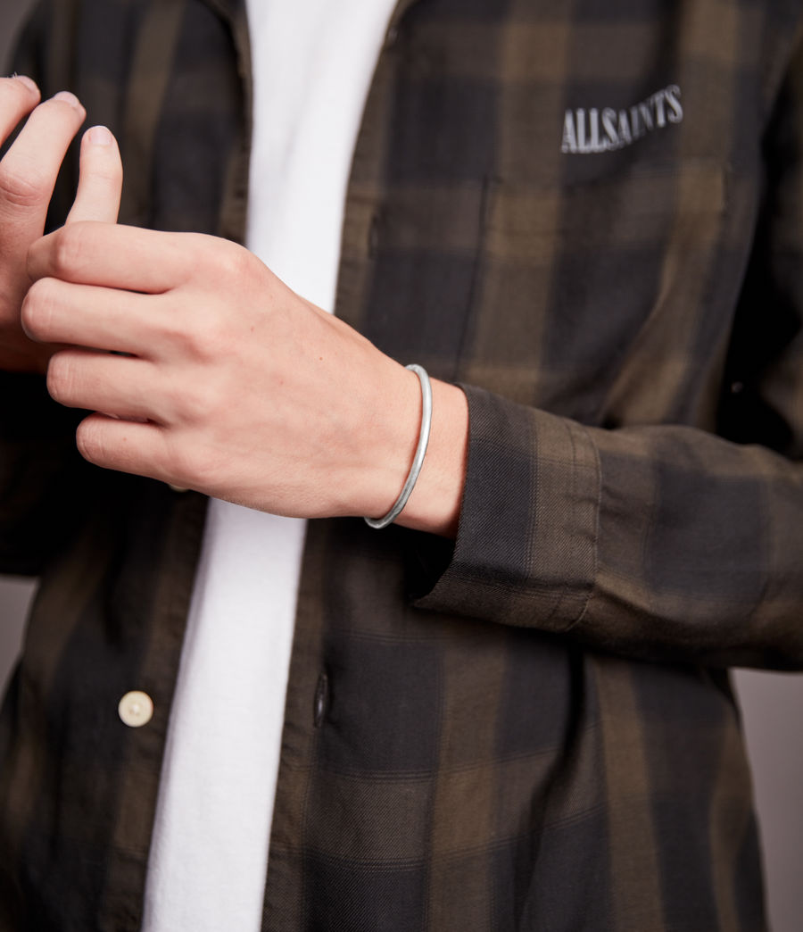 Hommes Finn Sterling Silver Bracelet (warm_silver) - Image 2